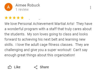 2, Personal Achievement Martial Arts Wheat Ridge CO